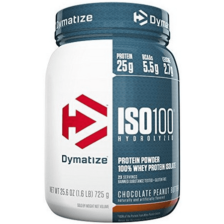 Dymatize ISO 100 Hydrolyzed 100% Whey Protein Isolate Powder, Chocolate Peanut Butter, 25g Protein/Serving, 1.6 Lb