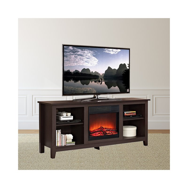 "Trent Home Still Creek 58"" Fireplace TV Stand in Espresso"