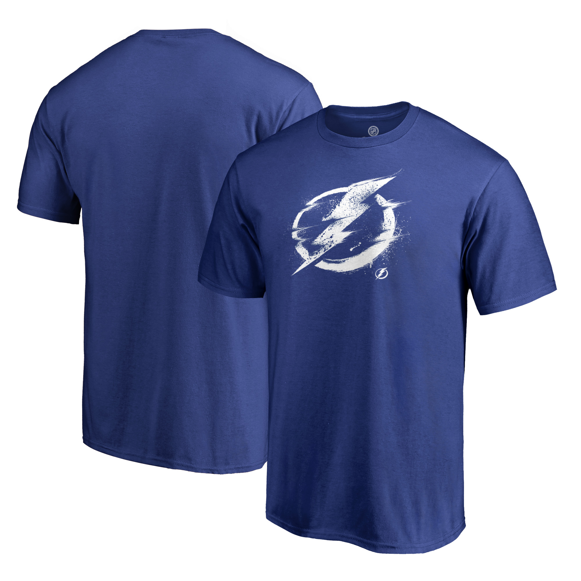 Tampa Bay Lightning Fanatics Branded Splatter Logo T-Shirt - Royal