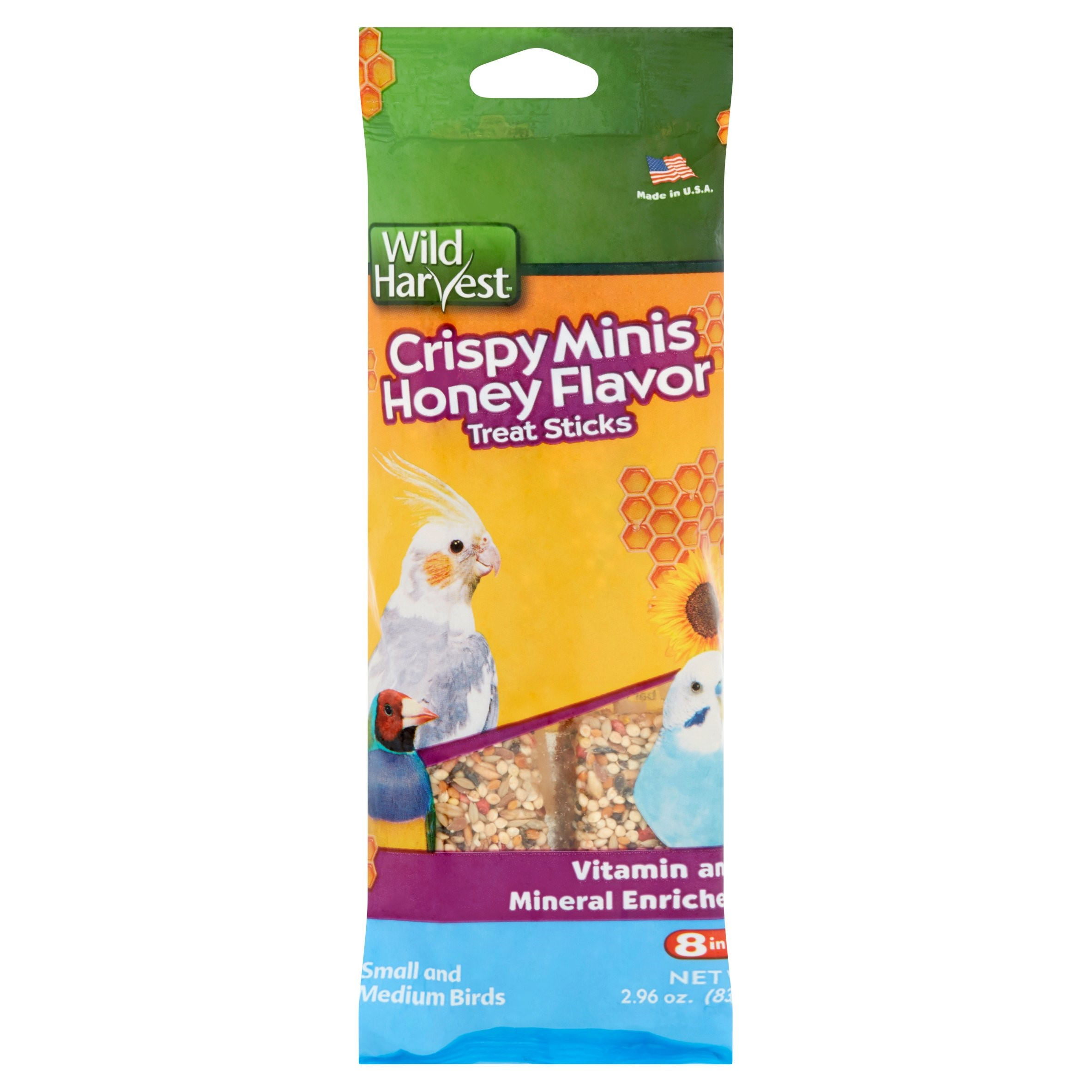 (3 Pack) Wild Harvest Crispy Mini Honey Flavor Treat Sticks, 2.96 oz