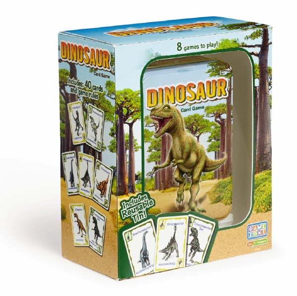 Game Zone Dinosaur Card Game in Storage Tin