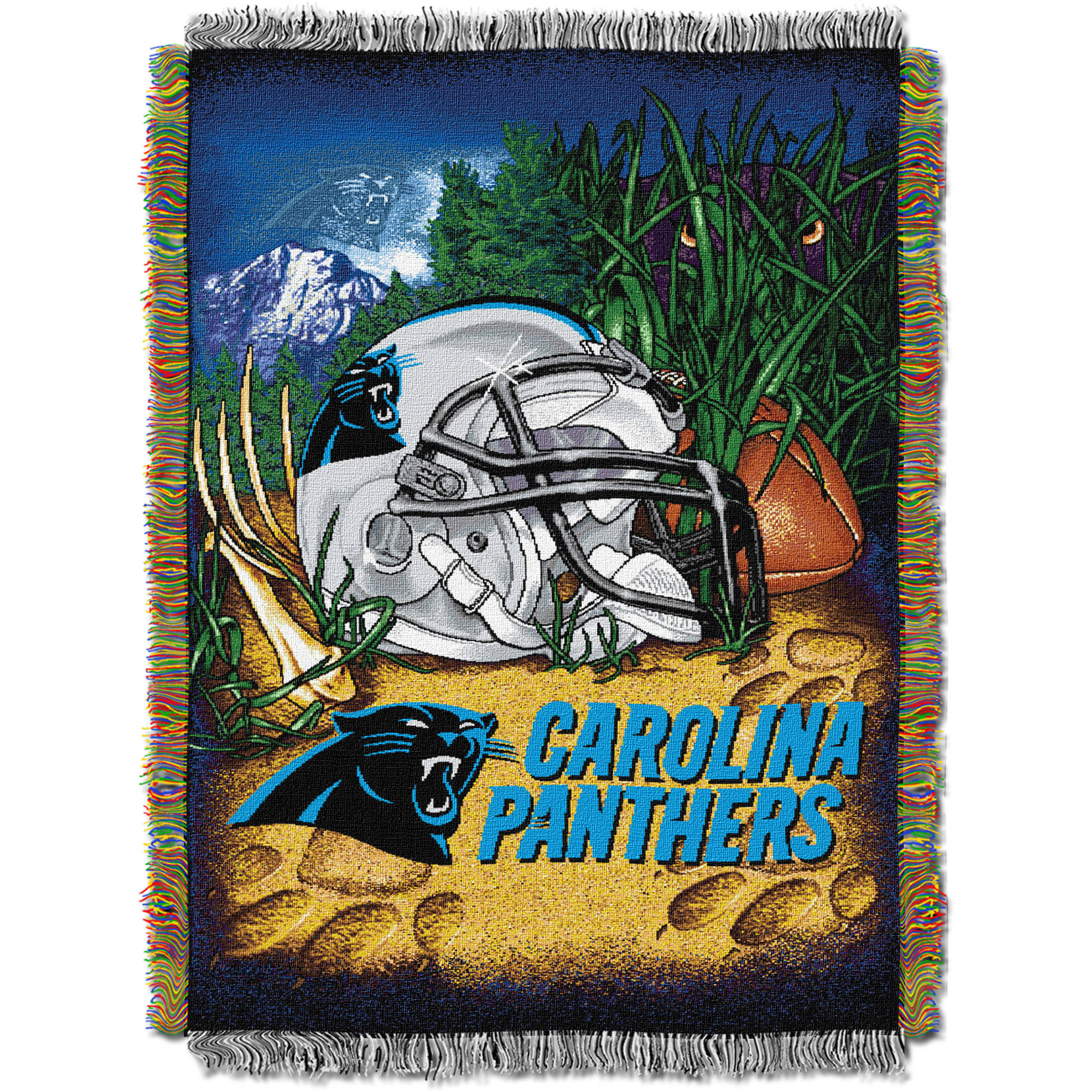 """NFL 48"""" x 60"""" Tapestry Throw Home Field Advantage Series- Panthers"""