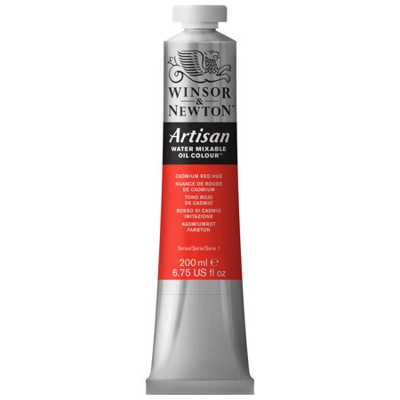 Winsor & Newton Artisan Water Mixable Oil Colours, 200ml Tube, Cadmium Red Hue