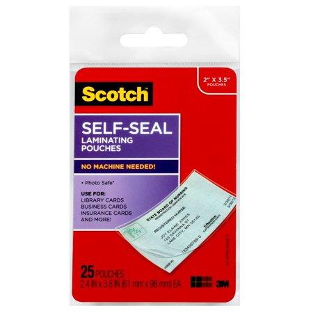 Scotch self sealing laminating business card pouches 25 sheets scotch self sealing laminating business card pouches 25 sheets reheart Choice Image
