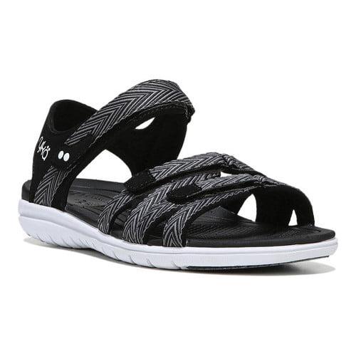 Ryka Women's Savannah Sport Sandal, Black/Frost Grey, 12 M US