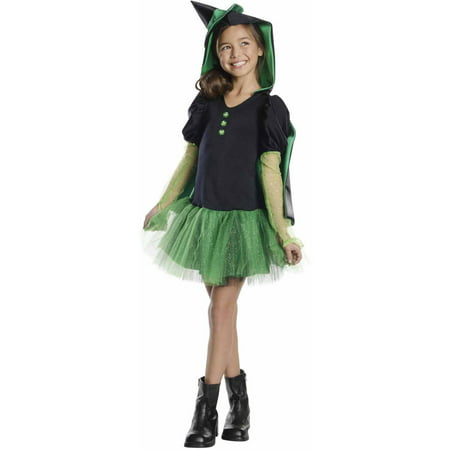 Wicked Witch of the West Hooded Tutu Child Halloween Costume - Maquillaje De Halloween