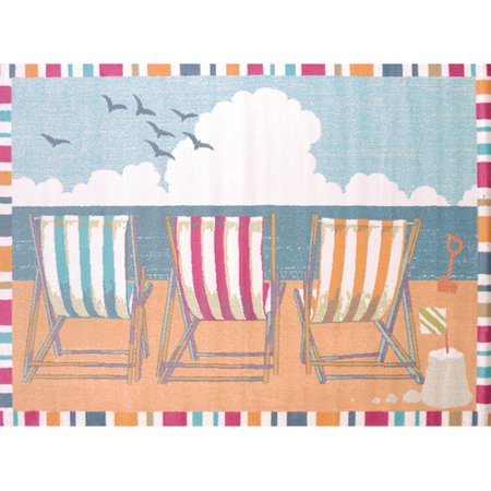 Polyester Tropical Rug (United Weavers Seaside Gulf Chairs Tropical Woven Olefin Area Rug )