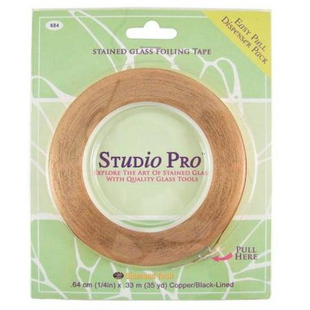 Studio Pro 7/32-Inch Black Lined Copper Foil