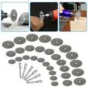 EEEkit 36PCS Cutting Wheel Set for Rotary Tool, Diamond Cutting Wheel Resin Cut Off Disc Combo Cutter Diamond Cutting Disc Kit with Mandrels for Wood Glass Plastic Stone Metal - 25mm/20mm/16mm