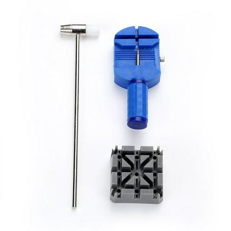 HC-TOP 11PCS Simple Watch Repairing Tools Kit Watch Belt Holder Pin Punches Set - image 3 de 6