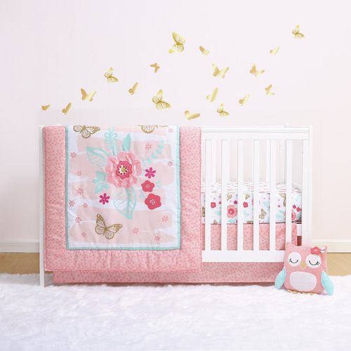 Little Haven Aflutter 4 Piece Crib Bedding Set