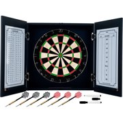Trademark Poker Black Laminate Dart Cabinet Set