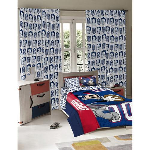 Disney Mickey Mouse NFL Full Comforter and Sham Set - Giants