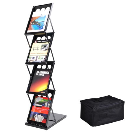 Literature Rack - Yescom Portable Pop Up 4 Pocket Magazine Brochure Literature Catelog Holder Rack Stand Tradeshow Display w/ Carrying Bag