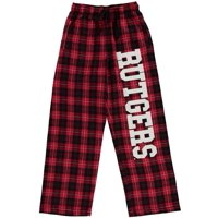 Rutgers Scarlet Knights Youth Plaid Flannel Pants - Scarlet