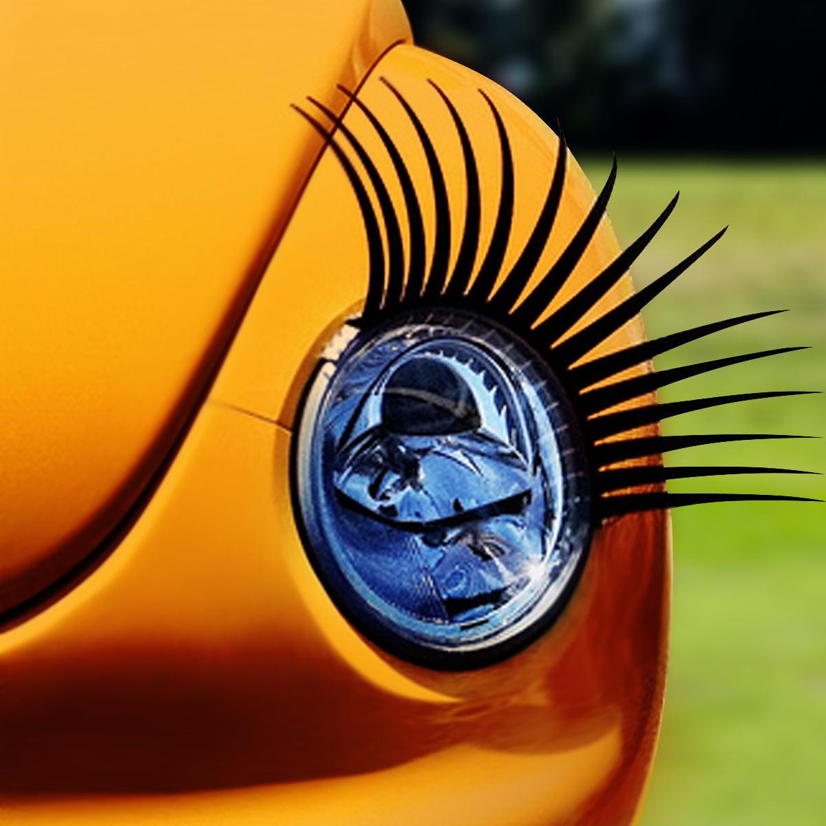 Automotive headlamp car eyelash decals