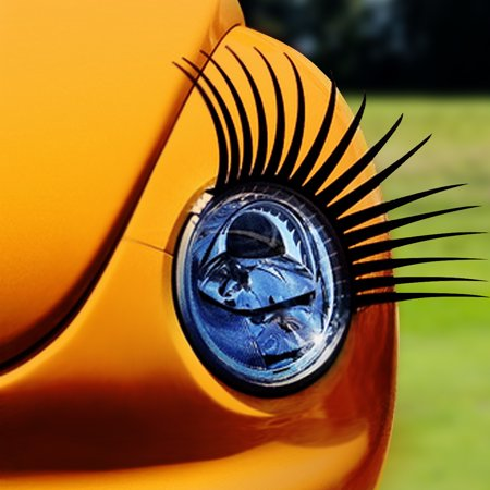 Automotive Headlamp Car Eyelash Decals