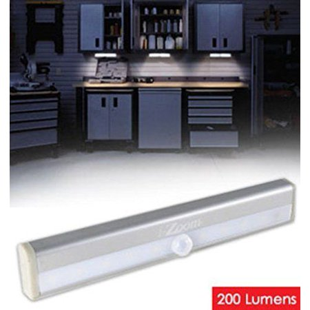 Wireless LED Light Bar - Motion And Light Activated For Auto/On And Off, 200 Lumens, Easy Peel Adhesive Strip Or, Super Strong Magnetic Strip, Great For Under Kitchen Cabinet And Much More