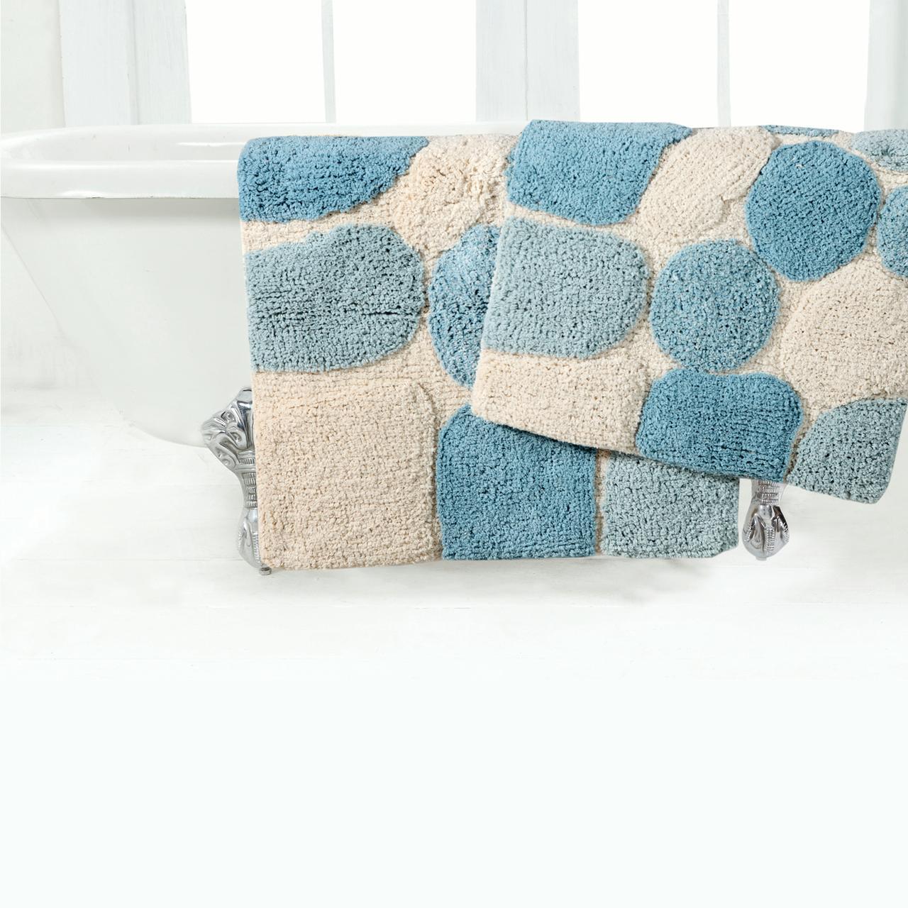 """Chesapeake Pebbles 2Pc. Spa Bath Rug Set (21""""x34"""" & 24""""x40"""")"""