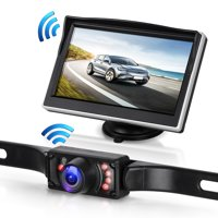 Digital Wireless Backup Camera & 5'' Monitor kit RV/Car/Trailer/Truck/Motorhome High-Speed Observation System IP68 Waterproof Rear/Side/Front View Continous/Reversing Use Guide Lines ON/Off