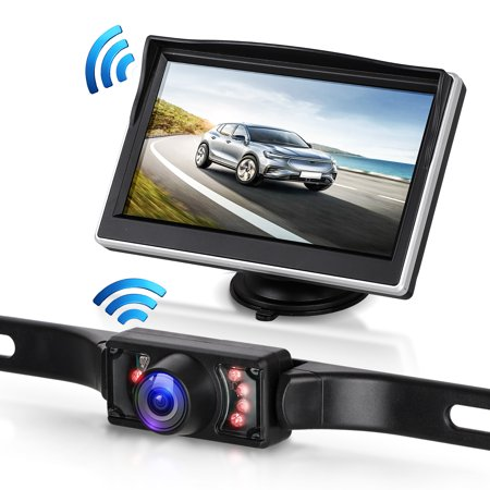 Digital Wireless Backup Camera & 5'' Monitor kit RV/Car/Trailer/Truck/Motorhome High-Speed Observation System IP68 Waterproof Rear/Side/Front View Continous/Reversing Use Guide Lines ON/Off ()