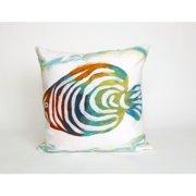 Liora Manne Tropical Fish Indoor/Outdoor 20 inch Throw Pillow