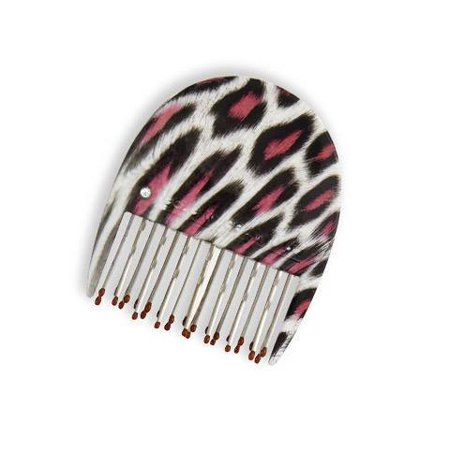 Teeze W/ Eez To Go Little Tease Compact Styler Pink Leopard (Little Brush For Hair)