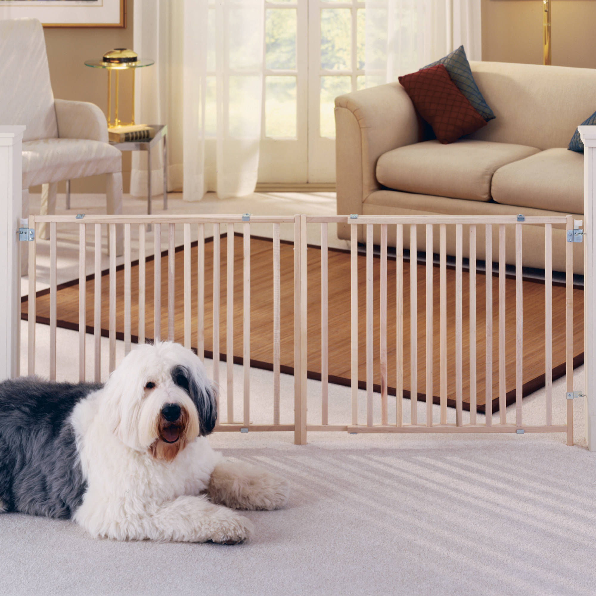 north states  extrawide wooden swing gate  walmartcom -