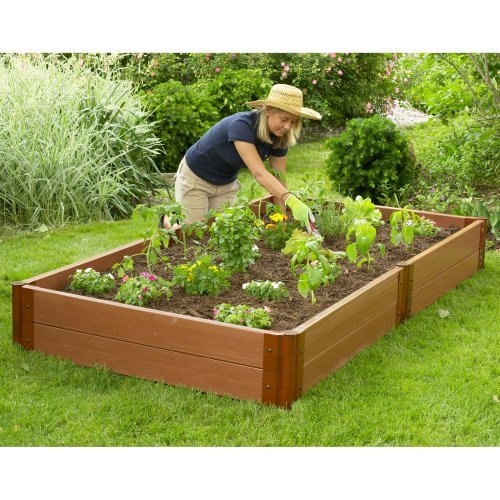 Frame-It-All 4 x 8 Recycled Resin Raised Garden Bed - 12H in.