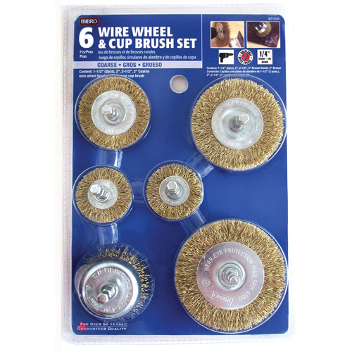 Mibro 971531 6-Piece Set Wire Wheel and Cup Brush