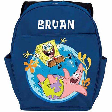 Personalized SpongeBob SquarePants Friends Youth Blue Backpack](Spongebob Accessories)