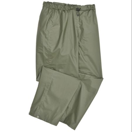 HELLY HANSEN Rain Pants, PVC/Polyester, Army Grn, L 70429_480-L