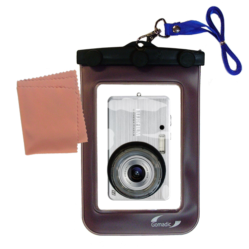Gomadic Waterproof Camera Protective Bag Suitable For The Fujifilm Fine Pix J15  -  Unique Floating Design Keeps Camera Clean And Dry