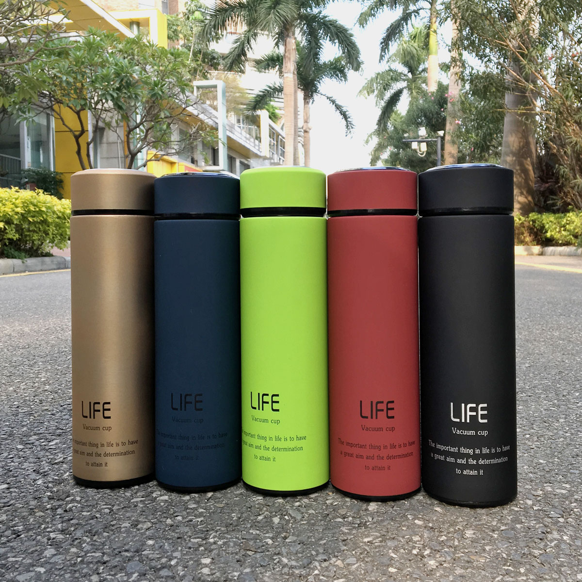 500ML/18Oz Portable Hot Stainless Steel Vacuum-Insulated Thermos leak-proof Insulated Container Coffee Tea Water Beverage Bottle Flasks Travel Mug 5 Colors