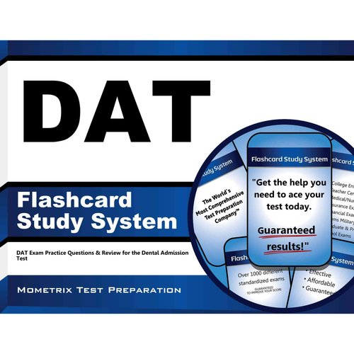 DAT Flashcard Study System : DAT Exam Practice Questions and Review for the Dental Admission Test