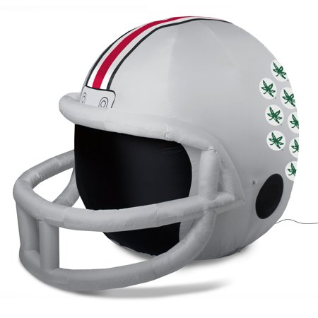 NCAA Ohio State Buckeyes Team Inflatable Lawn Helmet, Gray, One Size (Inflatable Helmet)