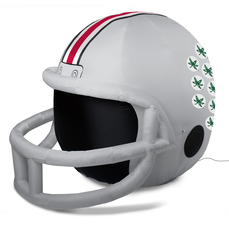 NCAA Ohio State Buckeyes Team Inflatable Lawn Helmet, Gray, One Size