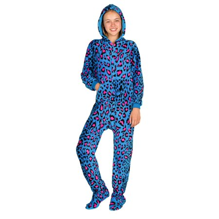 7bc73e2f4 Footed Pajamas - Footed Pajamas - Neon Kitty Kids Hoodie Chenille ...