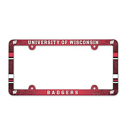 Wisconsin Badgers License Plate Frame - Full