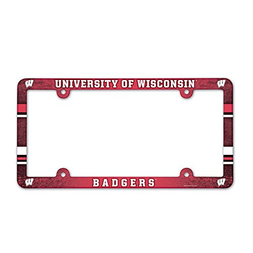 Wisconsin Badgers Official NCAA License Plate Frame Plastic by Wincraft 900623