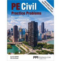 Ppi Pe Civil Practice Problems, 16th Edition (Paperback) - Comprehensive Practice for the Ncees Pe Civil Exam (Paperback)