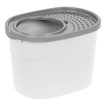 Iris Top Entry Cat Litter Box White Gray Walmart Com