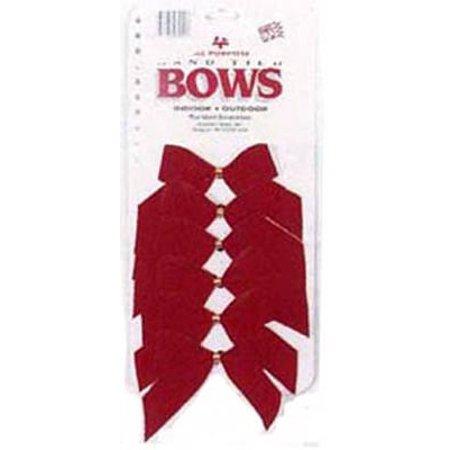 - HOLIDAY TRIM Red Velvet Bows, 2-Loop, 3-1/2-In., 6-Pk. 7920