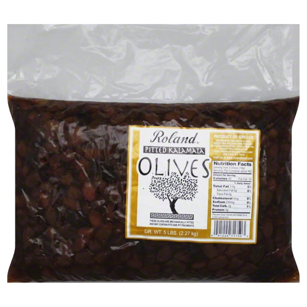 Roland Greek Pitted Kalamata Olives, 5 lbs