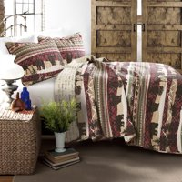 Holiday Lodge Quilt Red/Brown 3Pc Set King