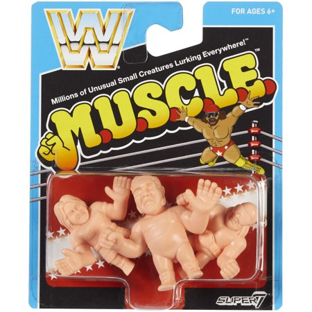 Roddy Piper, Andre the Giant & Randy Savage - WWE M.U.S.C.L.E. 3-Pack Toy Wrestling Figures - Wwe Roddy Piper