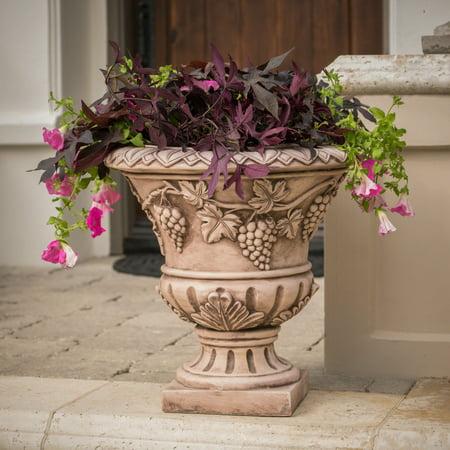 Noble House Cohen 21-inch Urn Planter, Light (House Urn)