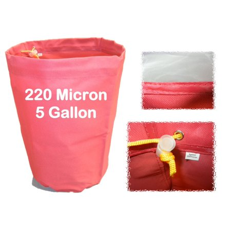 5 Gallon 220 Micron Herbal Bag - Bubble Water & Ice Process - Wine Filter Bags ()