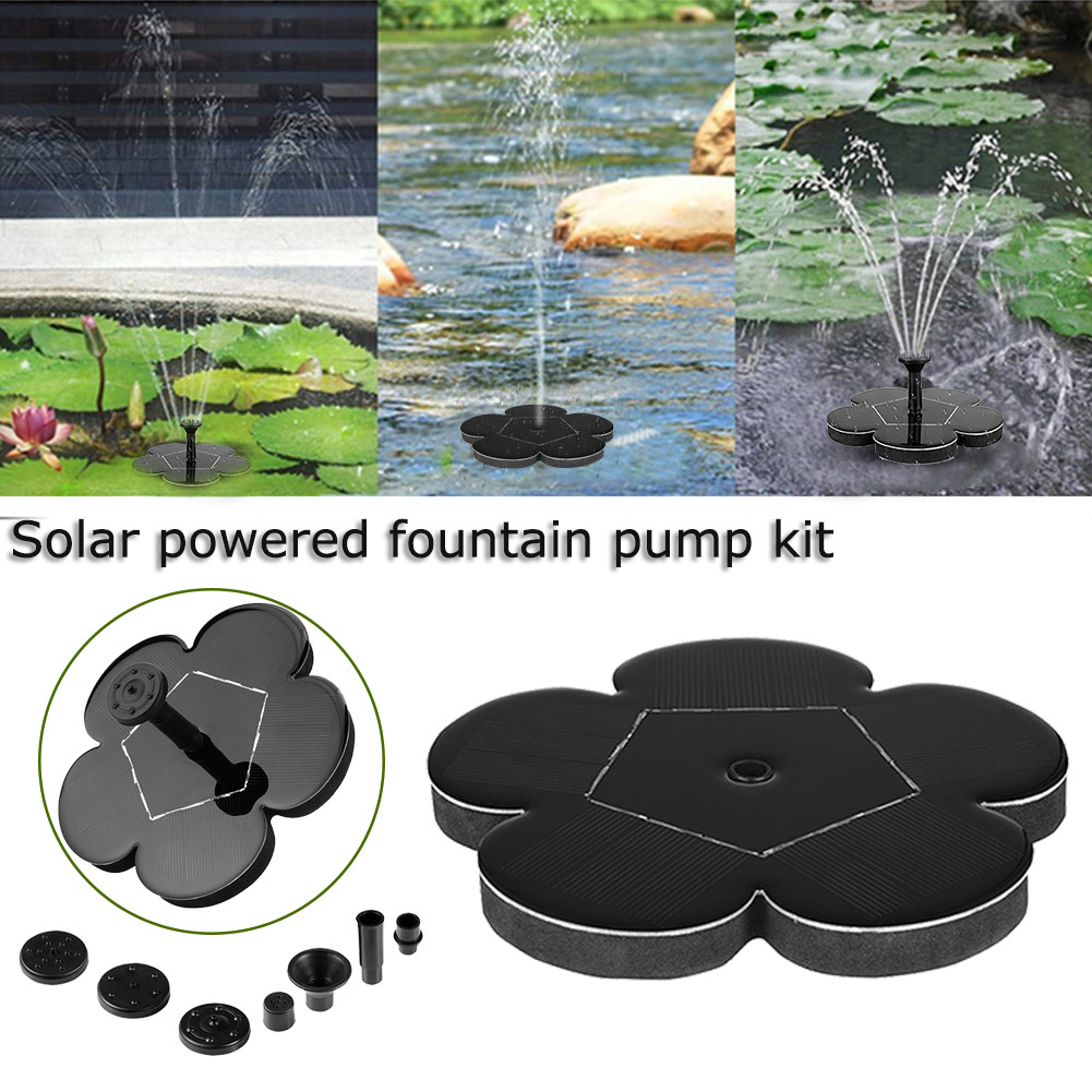 Solar Water Fountain Pump Floating Panel Pool Garden Pond Watering Kits