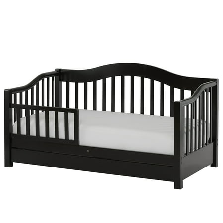Dream on Me Toddler Day Bed with Storage, Black